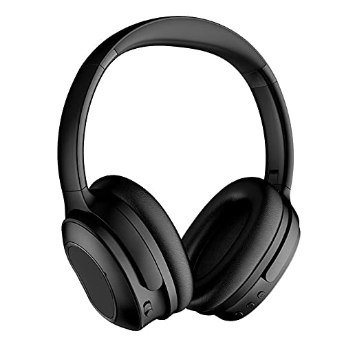 Auriculares inalámbricos con cancelación de ruido Auriculares de audio inalámbricos Bluetooth 5.0 con micrófono CVC 6.0 Auriculares de audio estéreo plegables inalámbricos y con cable ,Negro