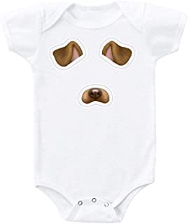 Puppy Dog Face Snapchat Filter Funny Baby Bodysuit for Boy Girl