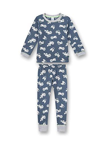 Sanetta Jungen Schlafanzug lang blau Pyjamaset, Bering sea, 104