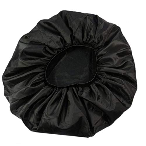 Bontand Elastic Wide Band Nachtschlaf Kappen-Haar-Bonnet-Hut Sleeping Head Cover Für Frauen Mädchen (schwarz)