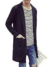 SHEYA カーディガン メンズ トップス ロング丈 羽織 シンプルカラー ジャケット コーデ アウター コーディガン 秋 冬