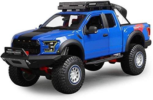 Llpeng Modelo de Juguete Modelo de Coche Ford F150 Raptor Modelo 1,18 Escala Modelo Die Casting Modelo de aleación Modelo estático Modelo de joyería Regalo Colección (Color : Blue)