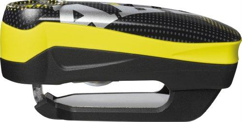 Abus AB48733 Detecto 7000 RS1 - Antirrobo de freno de disco con alarma (incluye funda, 50 x 100 mm), Color Amarillo