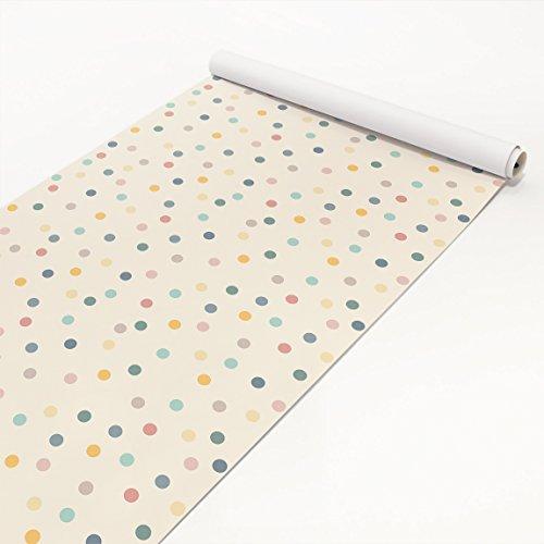 Apalis Klebefolie - Konfetti Punkte Muster - Selbstklebende Folie 50 x 100 cm