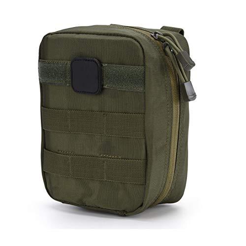Bolsa de botiquín de Primeros Auxilios Bolsa de botiquín de Primeros Auxilios Bolsa de Utilidad médica para el Lugar de Trabajo en el hogar Camping Viajes(Army Green)