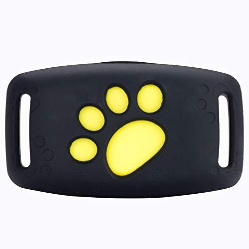 FEIYI Localisateur de pêche et de chasse GSM GPRS Mini traceur GPS avec collier lumineux étanche pour animaux domestiques chiens, chats, bétail, moutons (couleur : noir)