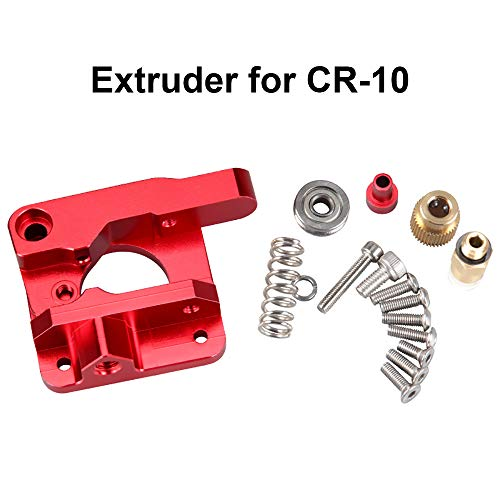 CR10 Extruder, Ender 3 Extruder, Upgrade 3D Drucker Teile MK8 Extruder Aluminiumlegierung Block Bowden Extruder 1,75 mm Filament für Creality 3D Ender 3, CR-10