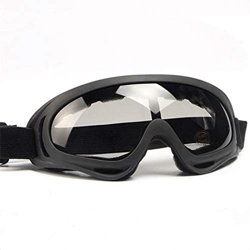 SmallSpark Motorcycle Motocross Goggles UV Protection Adjustable Outdoor Windproof Dustproof for Bicycle ATV Ski Snowborading (Gray)