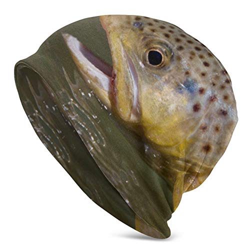 Pesca con Mosca para truchas con caña de Mosca y Carrete Gorro...