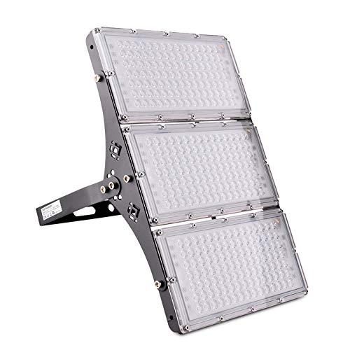 Bellanny 300W Faretto LED da esterno, IP65 Impermeabile Faretto Proiettore LED, 24000LM,6500K Bianco freddo Faro led esterno per Garage Giardino Cortile Fabbrica Piazza