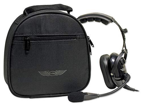 ASA2Fly Funda para auriculares de piloto ASA, color: negro