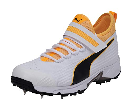 Puma Hombre 19.1 Bowling Zapatillas Deportivos De Críquet con Clavos Negro/Naranja 46 EU