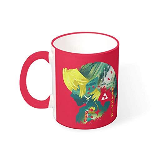 Taza de cerámica de alta calidad de Zel-da Personalized Mug – Regalo de compañeros de clase, red1 330 ml