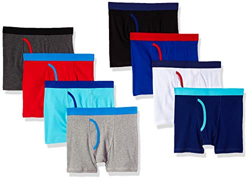 Amazon Essentials Boxer Brief (8 Pack) Briefs, Multicolor, Large