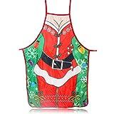 Liamostee Chistmas Apron Kitchen Christmas Santa Claus Elk Snowman Style...