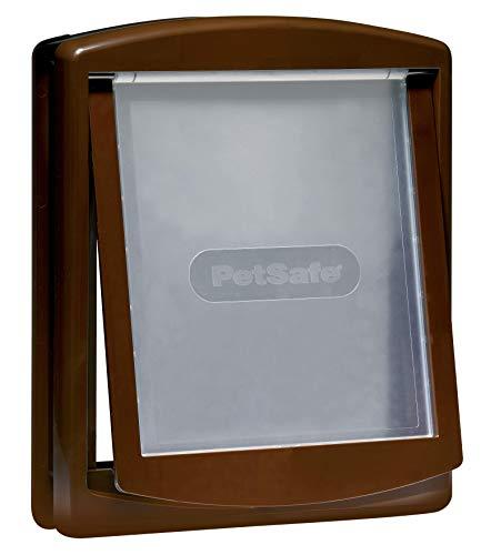 PetSafe Puerta para Mascotas Original con 2 Posiciones Staywell De - Fácil Instalación - Gatera En Exterior O Interior - Panel De Cierre Acoplable Personalizable - Fabricación Resistente, con 100 ml