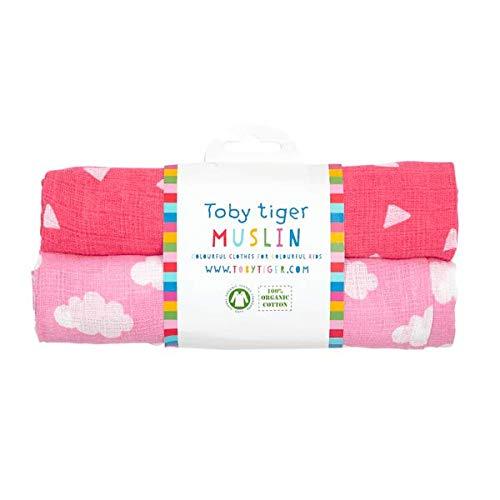 Toby Tiger Pink Cloud Muslins