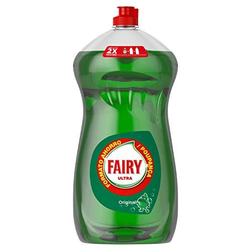 Fairy Ultra Líquido Lav. Verde Oscuro con LiftAction 1015ml sin remojo, sin grasa, sin dificultad, suave con la piel