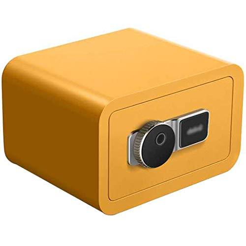 FMOGE Cassaforte Piccola Cassaforte Digitale, Piccola Cassaforte per Impronte Digitali per La Casa, Mini Cassaforte in Acciaio per Ufficio, Serratura Invisibile per Spogliatoio, con Chiave