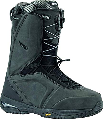 Nitro Snowboards Herren Team TLS '20 All Mountain Freeride Freestyle Schnellschnürsystem Boot Snowboardboot, Black, 32.5