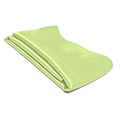 TieMart Lime Green Solid Color Scarf