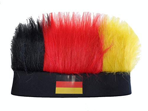 SchönerSchenken Stirnband Perücke Germany Fussball Handball, Karneval Nationalmannschaft Deutschland Fanartikel