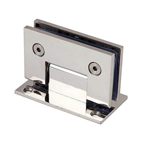 Puerta de cristal resistente de 90 grados para puertas de ducha de vidrio y bisagras de pared a vidrio (cromo pulido)