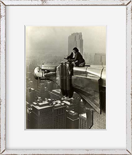 Foto: Margaret Bourke-White encima de la edificio Chrysler, Nueva York, NY, c1932, Gárgola. Tamaño: 8x 10
