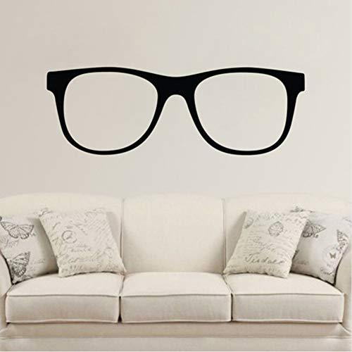 Zfkdsd Hipster Brille - Wand Vinyl Aufkleber Aufkleber Familie Wandaufkleber Kinderzimmer Wandbild Dekor Desig Einfache Minimalistischen Stil 128 * 43 Cm