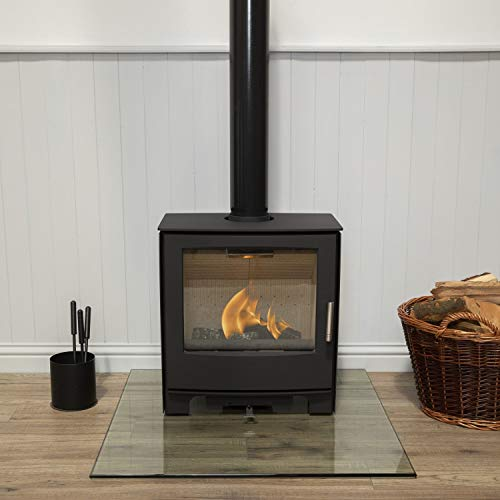 Mendip Woodland Large Multi Fuel Stove Fire Glass Viewing Window 5.0kW Eco Defra