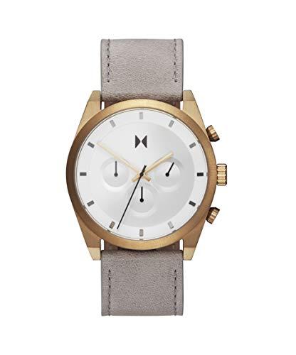 MVMT Herren Analog Quarz Uhr mit Leder Armband 28000043-D