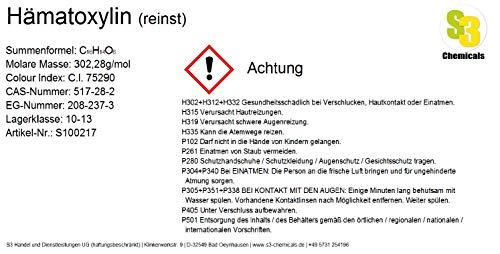 S3 Chemicals Hämatoxylin (reinst) Gebindegröße 25g