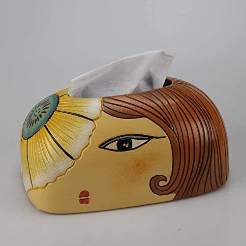 TLF-FF tisular caja de pañuelos de almacenamiento caja de dispensadores de papel higiénico bandeja de papel decorativo Inicio simple caja de pañuelos Hogar moderno Salón Comedor papel de la sala gavet