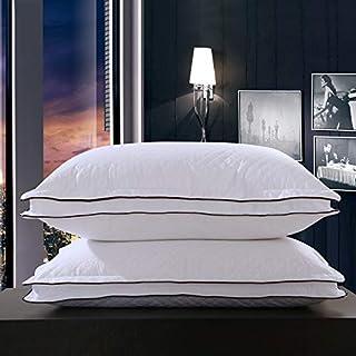 LMXDCS Almohadas Tamaño Estándar (Paquete De 2), Funda Algodón 100% Transpirable, Colección Premium Hotel Anti Alergia Al Polvo, Almohadas Espuma Memoria Cama Suave para Dormir