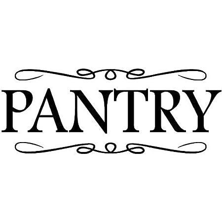 2pcs Pantry Vinyl Wall Decals Door Decor Home Kitchen Art Sticker Quotes