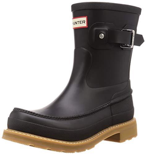 HUNTER Original Moc Toe Short Rain Boots Black 13