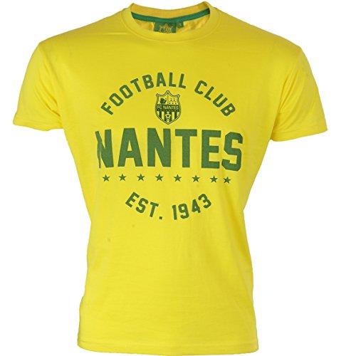 FC Nantes - Tee Shirt Adulte - Tee Shirt 100% coton mixte collection officielle FC Nantes - T-shirt unisexe pour le sport