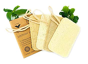 My Home Style - All Natural Loofah Sponges for Dishes Kitchen and Bathroom Cleaning