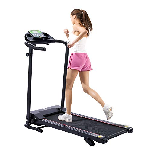 Z ZELUS Laufband klappbar Heimtrain 10 km/h Bluetooth Treadmill mit 12 Programmen Lauffläche 100X36cm Heimtrainer Fitnessgerät für Heim Büro Laufband mit Steigung