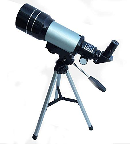 TOY Telescopio Movimiento Niño Juguete Principiante Adulto Telescopio Diametro Largo Profesión Apreciación de la Luna Militar/Blanco / 45×22×12cm