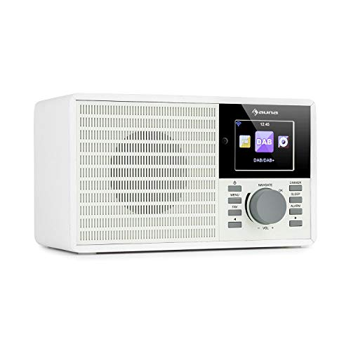 auna IR-160 SE - Internetradio, DAB+ & UKW Radio, Mediaplayer: Spotify Connect/BT/USB/UPnP/DLNA, 2, 8