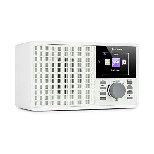 "auna IR-160 SE - Internetradio, DAB+ & UKW Radio, Mediaplayer: Spotify Connect/BT/USB/UPnP/DLNA, 2, 8\"" HCC Display, unterstützte Dateiformate: WMA / MP3, Line-Out, antikweiß"