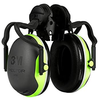 3M PELTOR Ear Muffs 10/Pack Noise Protection NRR 26 dB Full Brim Hard Hat Attachment Electrically Insulated Construction Manufacturing Maintenance Automotive Woodworking X4P51E