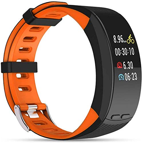 Sailormjy Smartwatch, Montre Connectée Bracelet Connecté, trackers d'activity, GPS Outdoor-Sport Bta hartslag-slaapmonitor voor mannen en vrouwen B