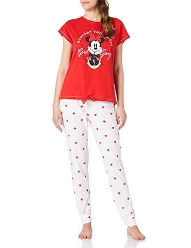 Women' Secret Pijama Minnie algodón, Rojo, XXL para Mujer