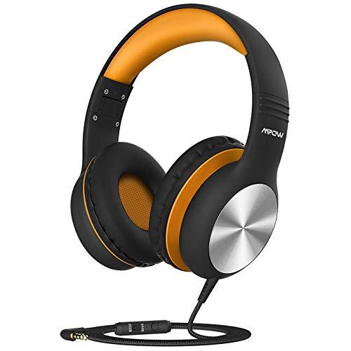 Mpow CH6 Pro Cuffie per bambini Over-Ear con microfono e volume limitato 85dB / 94dB, Cuffie cablate per adolescenti Ragazze Ragazzi, Cuffie stereo HD con funzione di condivisione, per scuola/PC
