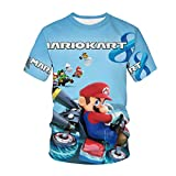 Amacigana Super Mario Camiseta de manga corta para niños con estampado 3D, 06, 120
