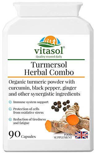 Vitasol Health Turmersol Herbal Combo - Turmeric Herbal Combination Supplement Plus Immunity Support
