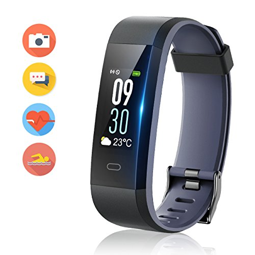 Vigorun Fitness Tracker Color Screen, Activity Tracker with Heart Rate Monitor Watch, IP68 Waterproof, Sleep Monitor, Step Calorie Counter, Pedometer Wristband for Women Men Kids