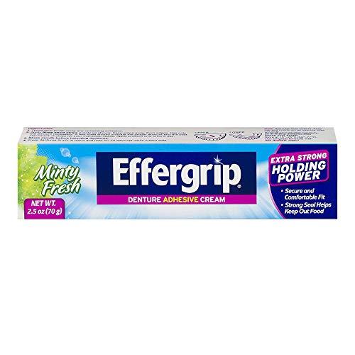 Effergrip Denture Adhensive Cream, Extra Holding Power, 2.5 Fl Oz (Pack of 2) by Pfizer